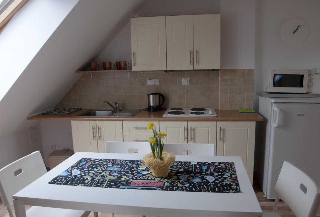 apartmán, kuchyň, ubytování, Třeboň, soukromí, kompletně vybavená